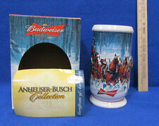 2007 Budweiser Holiday Beer Stein Mug Clydesdale Horses Ceramic Original Box