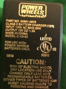 Fisher Price Power Wheels 00801-0972 Class 2 12V Wall Charger Model C-12150