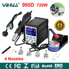YIHUA 995D 2In1 LED Soldering Iron Station Hot Air Gun Rework Repair Desoldering