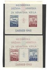 Croatia 1942 - Block 1 and Block 2 - 120 eur catalog value !