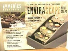 "Homedics "" ENVIRASCAPE "" MINI STEP Tabletop Relaxation Fountain 7.5"" X 6"" X 10"""