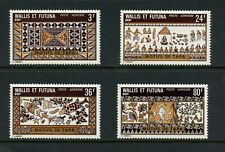 V057  Wallis & Futuna  1975  art Tapa Cloth  4v.   MNH