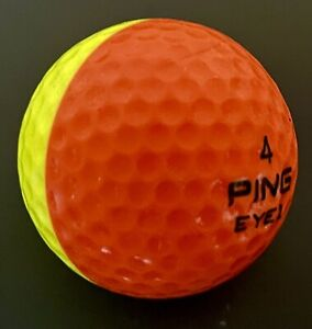 Ping Eye 2 Golf Ball Yellow & Orange Color Sides Dual Colored II #4 No Logo