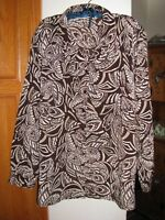 CABIN CREEK WOMEN'S PLUS SIZE Brown Print Shirt Blouse Size 2X