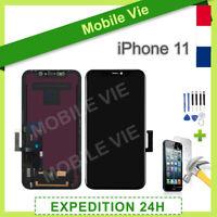 ECRAN VITRE TACTILE + LCD ASSEMBLÉ SUR CHASSIS POUR IPHONE 11 NOIR + OUTILS/FILM