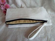 20x Eco Diy Blank Canvas Makeup Clutch Bag Wallet Phone Pouch Kids Pencil Case