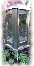 Grablampe 0500 Edelstahl matt mit Erdanker Grablaterne Grableucht Grabschmuck