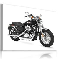 HARLEY DAVIDSON BLACK MOTOR BIKE NEW YORK CITY Large Wall Canvas ART HD80 MATAGA