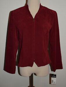 New Requirements Jacket Red 8P Zip Front Soft Blazer