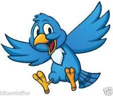 BLUE HAPPY BIRD HARD HAT STICKER TOOLBOX STICKER RIGHT