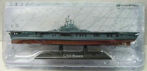 """Aircraft Carrier """" Uss Essex """" CV-9, 1942, Atlas , 1:1250, Finshed Model, New"""