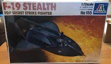 New 1/72 ITALERI F-19 Stealth Top Secret Strike Fighter Model Kit 155