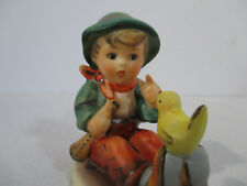 Hummel Goebel Figurine Singing Lessons Boy Yellow Bird Vtg 1970s TMK5 #63