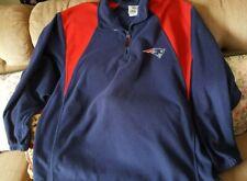 New England Patriots NFL Team Apparel 1/4 Zip Fleece Pullover Jacket Sz 2XL?