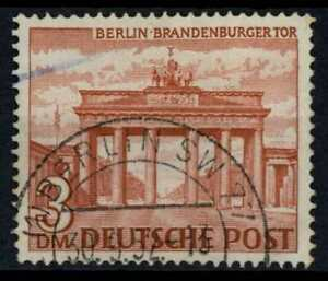 Berlin 1949-1954 SG#B52, 3DM Brown red Used Cat £23 #E34056