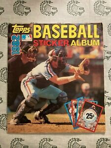 MLB Topps 1982 & 1983 Sticker Books Complete & Near Complete