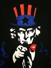BLACKLOGIC VPN online security lrg T shirt Uncle Sam computer tee No Downtime