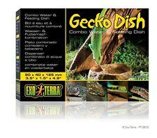 Exo Terra Reptile Gecko Combo 2-In-1 Terrarium Cage Water & Feeding Dish Bowl
