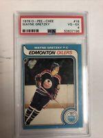 1979-80 O-Pee-Chee #18 Wayne Gretzky rookie card PSA 4