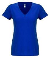 Next Level Apparel Women's Super Soft Suede Short Sleeve V Neck Basic Tee. N6480