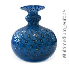 Glas Vase Bertil Vallien Kosta Boda Glasbruk blau Blasen signiert glass signed