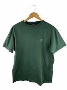 VINTAGE Nautica T Shirt Mens Size S Green Short Sleeve Logo Crew Neck Casual
