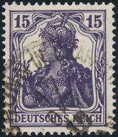 DR 1917, MiNr. 101 c, gestempelt, gepr. Infla Berlin, Mi. 200,-