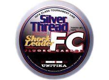 Unitika Shock Leader Silver Thread Fluorocarbon IGFA Class Line FC 80lb 100m