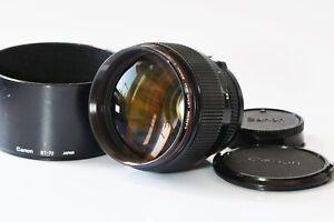 [Near Mint] Canon New FD 85mm F1.2 L NFD MF Portrait Lens from Japan C336