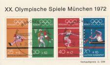 XX.Olympische Spiele München 1972 Blockausgabe mit Stempel Eröffnungsfeier