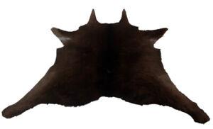 """Cowhide Rugs Calf Hide Cow Skin Rug (30""""x34"""") Black Brown CH8188"""
