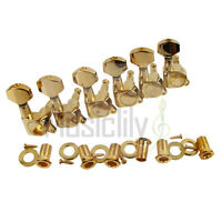 Musiclily Gold 6 Inline Guitar Sealed Machine Heads Tuning Pegs For Right Hand