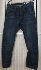 "ALLSAINTS ""Black Board Runner"" Twisted Leg Blue Jeans Size 32 W35 L31 Sold As Is"