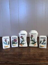 Vintage Made in Japan Spice Shakers 4 pcs Westwood Products Bee /& Flower 3 38