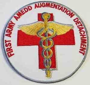 First Army AMEDD Augmentation Detachment Cloth Patch