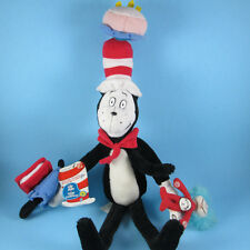 """PLUSH DR SEUSS CAT IN THE HAT 2003 velcro with tag  15"""" PLUSH velcro play along"""