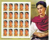 Scott 3509 - 34 Cent Frida Kahlo, Painter  Mini Souvenir Sheet of 20 MNH