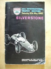 SILVERSTONE BRDC 14th MEETING - 12th MAY 1962 PROGRAMME