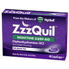 1 Pack NyQuil ZzzQuil Nighttime Sleep-Aid Diphenhydramine HCI (48 LiquiCaps)