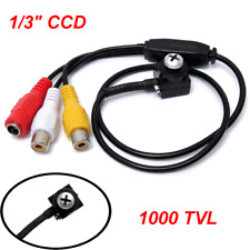 """1/3"""" CCD 3.6mm Wide Angle CCTV Surveillance Mini Security Camera with Microphone"""