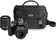 Nikon D3300 DSLR Kit w/18-55mm DX VR II & 55-200mm DX VR II Zoom Lens & Case-NIB