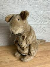More details for alresford crafts vintage kangaroo and joey soft toy