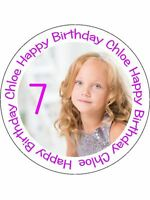 240 PRE-CUT EDIBLE WAFER CUP CAKE TOPPERS PERSONALISED PICTURE PHOTO TEXT IMAGE