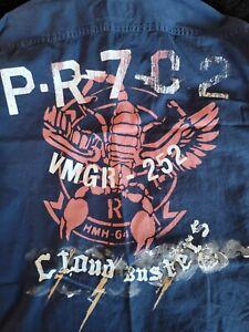 Polo Ralph Lauren Cloud Busters Navy Blue Military Shirt 2XL XXL