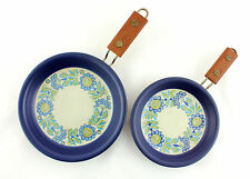 2 x Figgjo Flindt 'Tor Viking' frying pans. Teak handles. Scandinavian design.