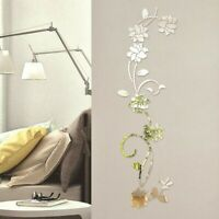 Acrylic Flower Wall Sticker Self-adhesive Removable Decal Home Room DIY Decor