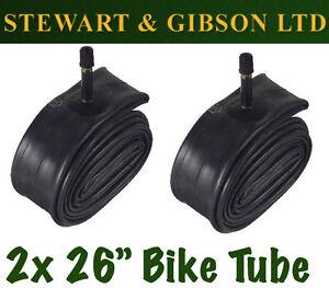 2 x IGNITE 26 INCH INNER BICYCLE TUBE TUBES 1.75 - 2.125 MOUNTAIN BIKE SCHRADER