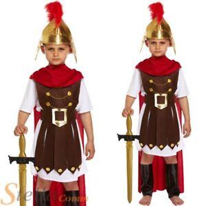 Boys Roman General Costume Gladiator Centurion Soldier Book Week Fancy Dress