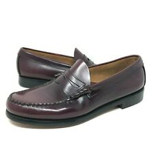 GH Bass Weejuns Penny Loafers Burgundy Leather Dress Shoes Mens Size 9.5 D