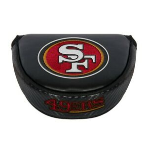 SAN FRANCISCO 49ERS EMBROIDERED LOGO BLACK PUTTER MALLET COVER NEW 👀⛳